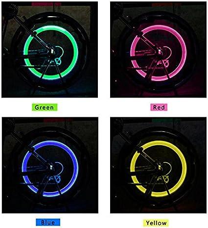 4 Pc LED Cap Valve Light Wheel Tire Bicycle Bike Car Spoke Glow Lamp Motorcycle