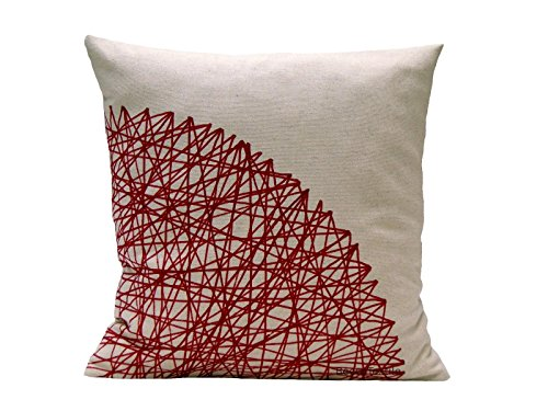 Burgundy Pillow.Maroon Geometric Pillow. Linen and cotton pillow cover 16 inches, 18 inches, 20 inches sizes available. BeccaTextile . ()