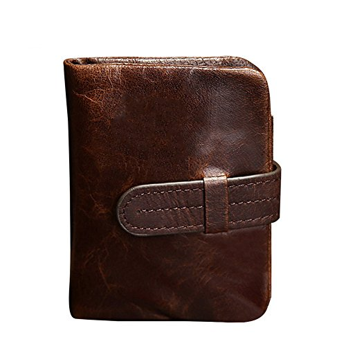 fold Bi Oil Wallet Leather amp;W H Style Long Wax 5wS4qE4t