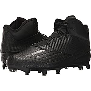 adidas Men's adizero 5-star 5.0 Mid Football Cleats (10, Core Black/Core Black/Core Black)