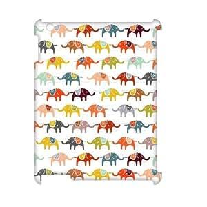 FOCUSCASE Discount Cover Custom Case Of Elephant,3D Bumper Plastic customized case For IPad 2,3,4