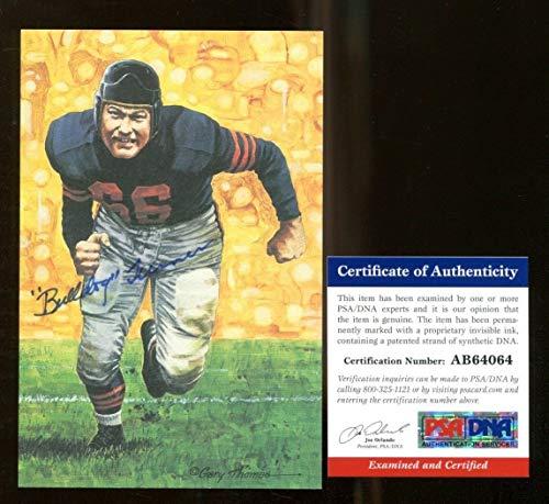 Clyde Bulldog Turner Signed Goal Line Art GLAC Autographed Bears PSA/DNA ()