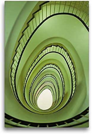 CALVENDO Premium Textil-Leinwand 50 cm x 75 cm de Altura, Osterei im Treppenhaus š Wandbild, Imagen en Keilrahmen, Fertigbild en verdadera Lienzo, Leinwanddruck Lugar Lugares