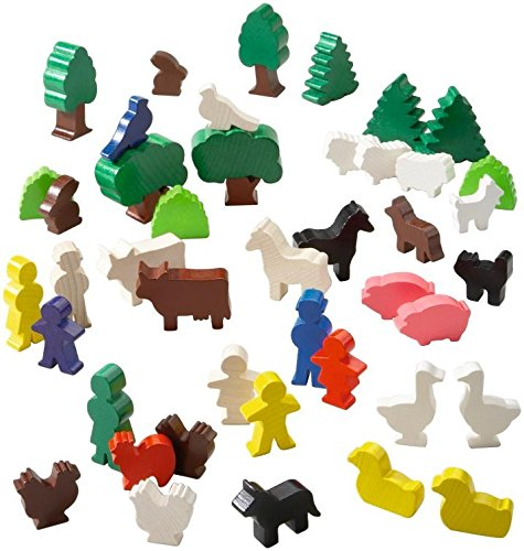 HABA Motley World Building Blocks 43 Piece Accessory Set (Made in Germany)