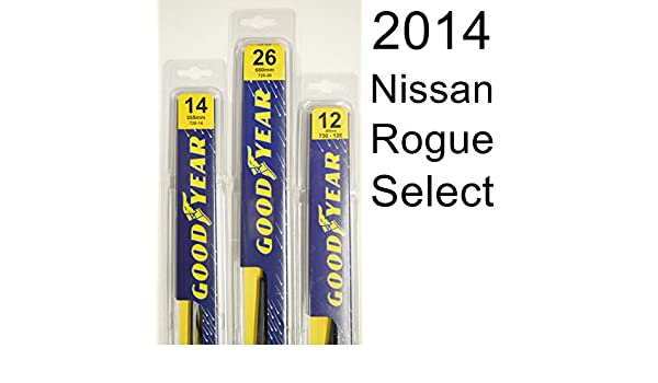 Nissan Rogue Select (2014) limpiaparabrisas Kit - Set incluye 26