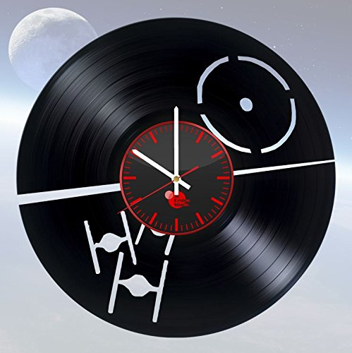 Star Wars TIE Fighter Vinyl Record Wall Clock Living Room Home Decor