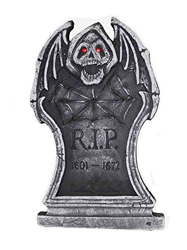 Gargoyle RIP Lighted Tombstone Yard Decorations [91716A] ()