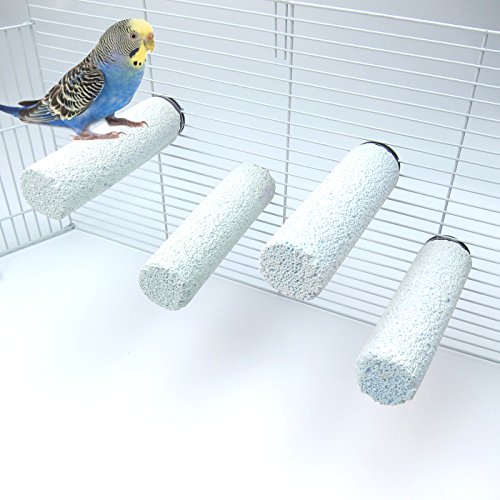 Alfie Pet - Korey Mineral Perch 5-Piece Set for Birds - Color: Blue
