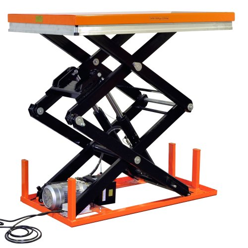 Bolton Tools New Stationary Industrial Electric Powered Hydraulic Lift Table - 2200 LB of Capacity - 70.1