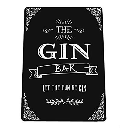 The Gin Bar Gin Party Cocktail Bar Let The Fun Be Gin Quote A4