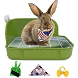 Humorous.P Small Animal Litter Pet Toilet Potty Trainer Corner Litter Bedding Box Pet Pan for Small Animal/Rabbit/Guinea Pig/Galesaur/Ferrets Rectangular Plastic Material