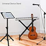 Universal Laptop Projector Tripod Stand - Computer, Book, DJ Equipment Holder Mount Height Adjustable Up to 35 Inches w/ 14'' x 11'' Plate Size - Perfect for Stage or Studio Use - PylePro PLPTS2