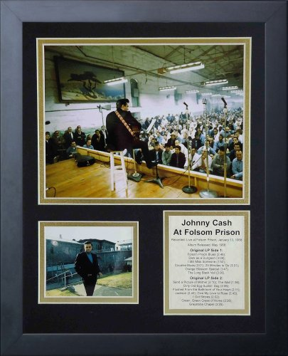 Legends Never Die Johnny Cash at Folsom Prison Framed Photo Collage, 11x14-Inch by Legends Never Die