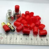 AMZVASO - 9mm protective cover Rubber Covers Dust Cap for F type coaxial connector or metal tubes red color 100pcs/lot