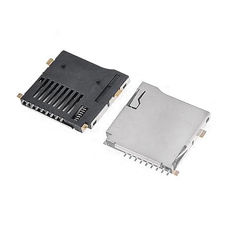 Amazon.com: 2 Pcs PCB Monte push-in tipo de sockets de TF ...