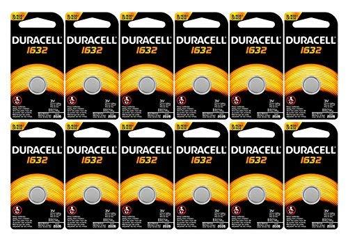 12-Pack Duracell 1632 Batteries 3.0 Volt Lithium Coin Button