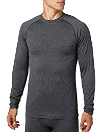 Men's Cold Weather Compression Heather Crewneck Long Sleeve Shirt