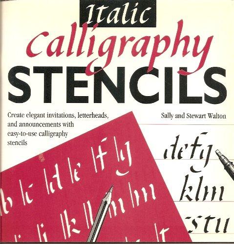 Italic Calligraphy Stencils Stewart Walton Sally Walton