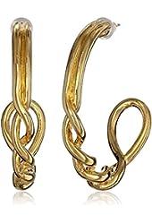 T Tahari Twist Hoop Earrings