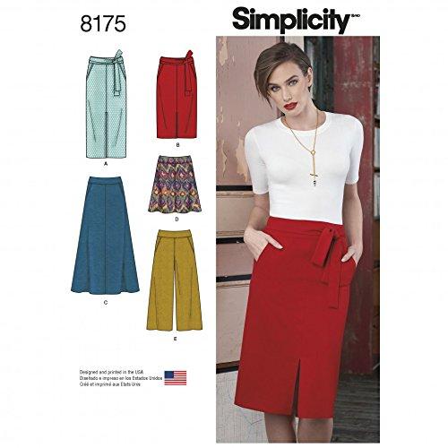 Simplicit/é pour femme Patron de couture 8175/fin et /évas/ée jupes Pantacourt et ceinture
