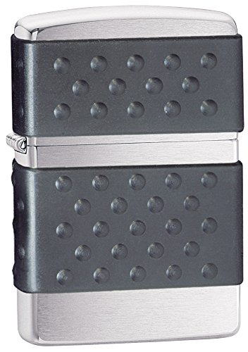 Zippo Black Zip Guard  Pocket Lighter, Brushed Chrome ()