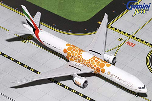 GeminiJets 1:400 Scale Emirates Boeing 777-300ER Orange Expo 2020