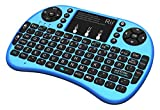 Rii i8+ BT Mini Wireless Bluetooth Backlight Touchpad Keyboard with Mouse for PC/Mac/Android, Blue (RTi8BT-3) For Sale