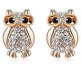 Rhinestones Cute Owl Earring