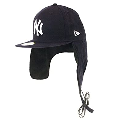 03412730a64 NEW ERA Dog Ear Cap - Headphone Ny Yankees 59 Fifty BLACK 7  Amazon.co.uk   Clothing