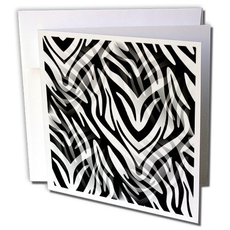(Cassie Peters Animal Print Abstract - Lost in the Wilds, Abstract Zebra Print - 12 Greeting Cards with envelopes (gc_240286_2))