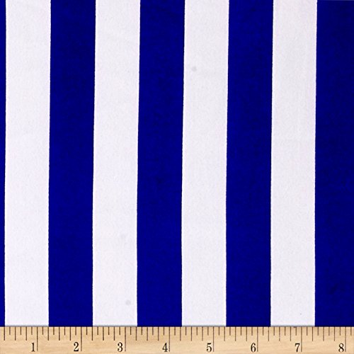 Blousewear Crepe Georgette Patriotic Stripe Blue/White Fabric By The Yard (Blue And White Stripe Fabric compare prices)