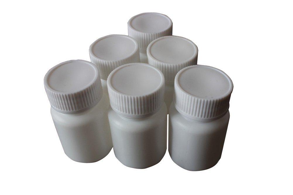 60G Plastic Round Pill Container Bottles-Medicine Tablet Storage Holder Pill Dispenser(White) (50)