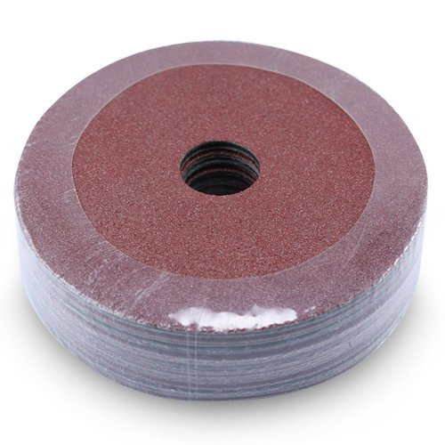 80 Grit Pack of 25 4.5-Inch Diameter x 7//8-Inch Arbor Hole Black Hawk Aluminum Oxide Resin Fiber Discs