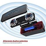 VTIN R2 - Altavoz Bluetooth Portátiles con Audio Clásico, Exclusive Bass + y Diseño de Botones Delicados, Altavoz Bluetooth Inalámbrico con Impermeable IPX6, a Prueba de Golpes, a Prueba de Arañazos.