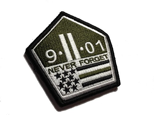 The Multicam/OD Green US Made 9/11 Never Forget Patch hook/loop Morale Military Twin Towers ()