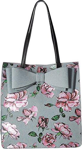 Betsey Johnson Denim Flower Print Bow ()