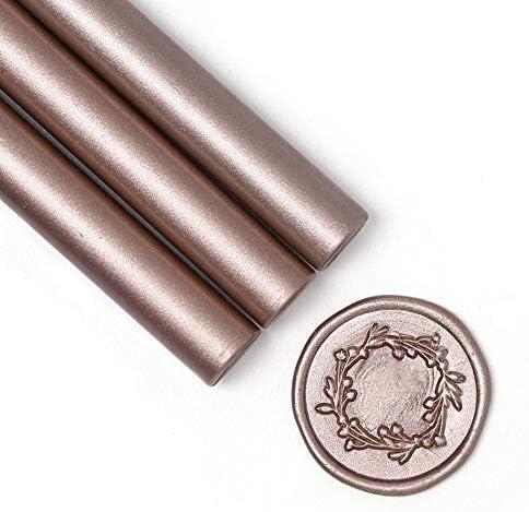 sharprepublic 2 Pieces Wax Seal Pen Envelope Stamp Marker Wedding Decoration Gold+Silver