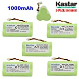 Kastar 5-Pack AAA 3.6V 1000mAh Ni-MH Rechargeable Battery Replacement for Zebra/Motorola Symbol 82-67705-01 Symbol LS-4278 LS4278-M BTRY-LS42RAAOE-01 DS-6878 Cordless Bluetooth Laser Barcode Scanner