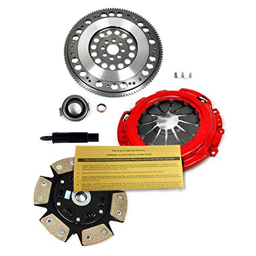 EFT 6-PUCK CLUTCH KIT + PROLITE FLYWHEEL ACURA RSX TYPE-S CIVIC Si 2.0L K20 K24 - 6 Puck Clutch Kit