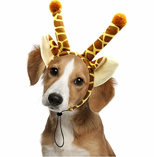 Dog Headband Costumes- Holiday Party Birthday Wearable Giraffe Accessory,for Medium and Large Dogs
