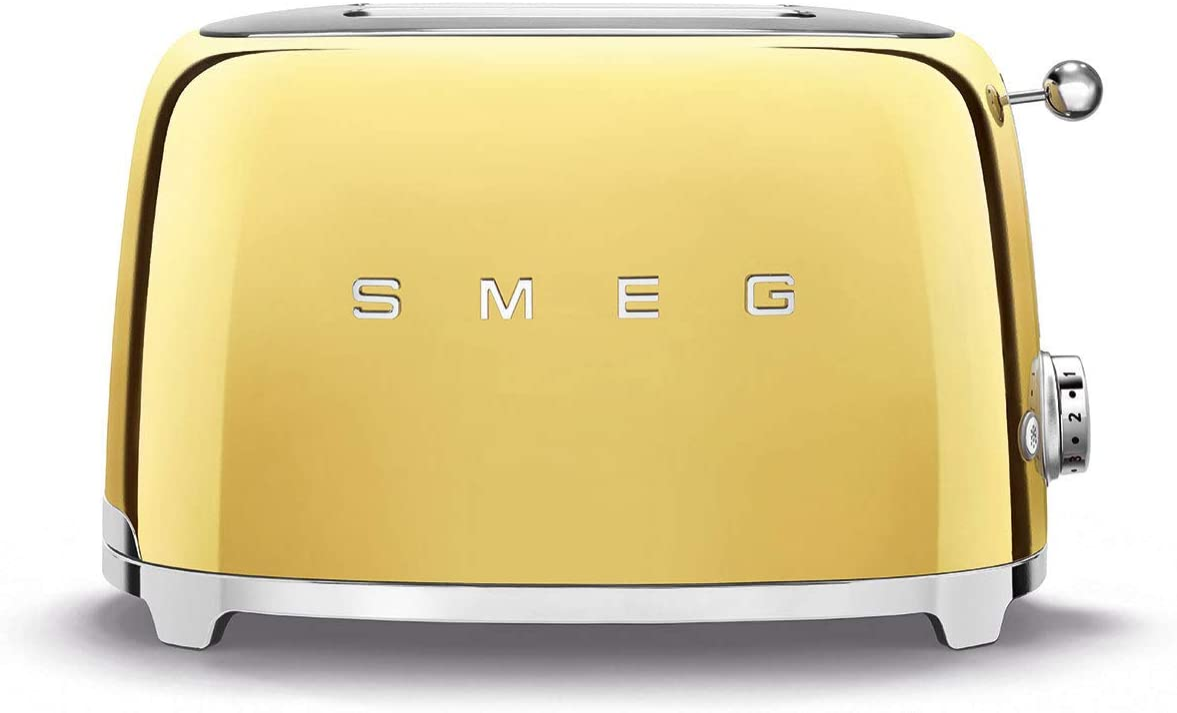 Smeg Limited Edition Retro Style Aesthetic 2 Slice Toaster (Gold)
