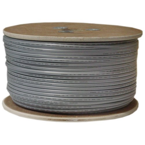 CableWholesale's Bulk Phone Cord, Silver Satin, 26/4 (26 AWG 4 Conductor), Spool, 1000 foot