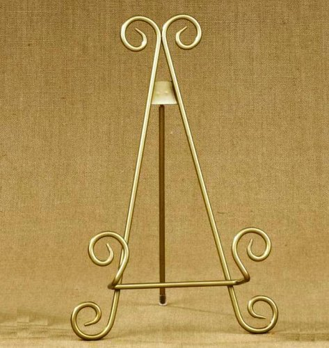 11h-gold-finish-metal-display-easel-platter-stand-great-for-display-photo-frames-and-collectible-pla