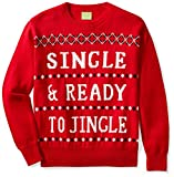 Ugly Fair Isle Unisex Jacquard Single & Ready to Jingle Crewneck Christmas Sweater