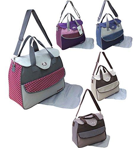 GMH 2 piezas bolsa de pañales cambiantes bolsa de pañales del bebé bolsa de selección de color bolsa bordo 2.150