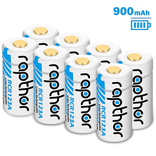 Lithium-ion Rechargeable Battery [900mAh 3.7V 8Pack] for Arlo Wireless Security Camera (VMC3030/VMK3200/VMS3230/3330/3430/3530) Flashlight Polaroid Microphone