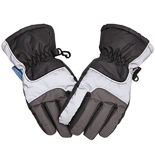 (Lullaby Kids Thinsulate Lined Waterproof Winter Ski Snow Gloves Unisex S)