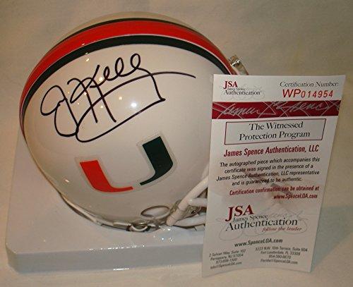 Jim Kelly Signed / Autographed Miami Hurricanes Mini Football Helmet - JSA
