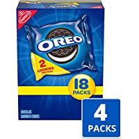 72 Snack Packs Oreo Chocolate Sandwich Cookies (144 Cookies Total)