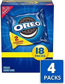 72 Snack Packs Oreo Chocolate Sandwich Cookies (144 Cookies Total)